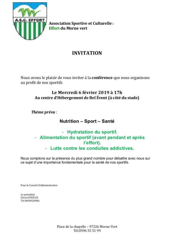 Conférence Nutrition - Sport - Santé