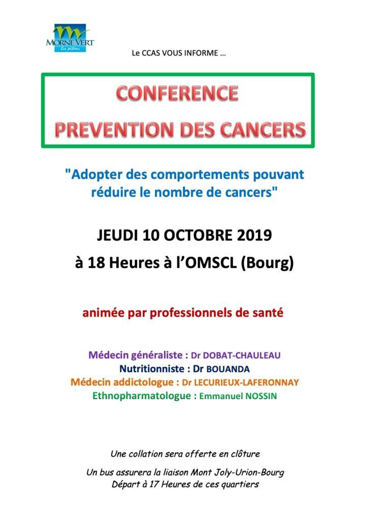 Flyer conférence CCAS